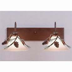 Lodge Bathroom Vanity Lights by Cedarwood Pine Cone Vanity Lights