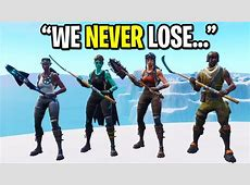 We created the RAREST Fortnite skin squad ever and THIS
