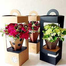 Flower Box take away bouquet flower packaging box with handle buy
