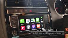apple carplay retrofitted into a vw polo gti
