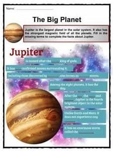 jupiter facts worksheets formation composition for