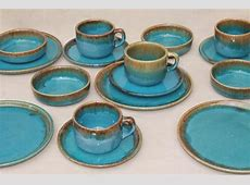 Brown And Turquoise Dinnerware & GIBSON Elite Althea 16