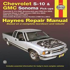 hayes car manuals 2003 gmc sonoma free book repair manuals haynes werkstatthandbuch 1994 2004 chevrolet s10 gmc sonoma chevrolet blazer gmc jimmy