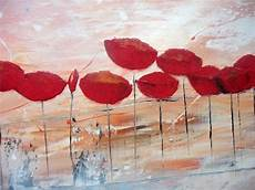 Abstract Acrylic Paintings Of Poppies Floral Flower