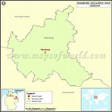 where is hamburg location of hamburg in germany map