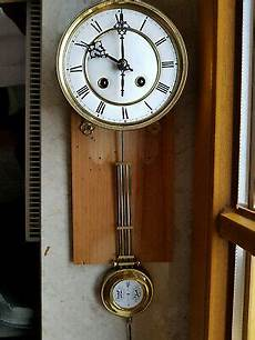 emaille regulator wanduhr pendeluhr antik wall clock