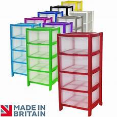 Plastic Drawers On Wheels by 4 Drawer Plastic Large Tower Storage Drawers Chest
