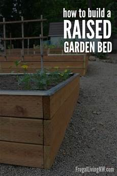 how to build a raised garden bed gardening