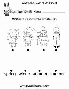 free printable worksheets on seasons kindergarten 14912 free preschool match the seasons worksheet seasons worksheets learning worksheets preschool