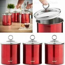 glass canister set for kitchen kitchen canister set stainless steel w glass lid 3