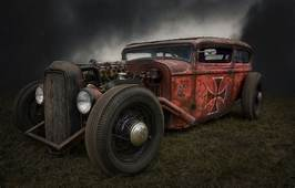 Wallpaper Retro Hot Rod Rat Images For