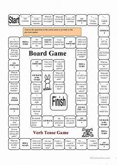 verb tense game english esl worksheets