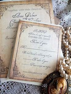 vintage wedding invitation suite sle by avintageobsession vintage wedding invitations
