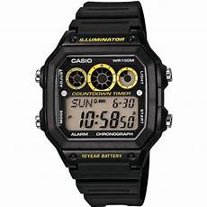 montre casio illuminator montre casio collection ae 1300wh 1avef montre