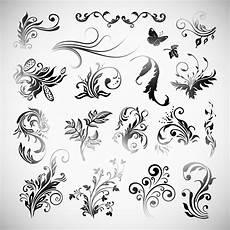 Gambar Batik Flowers Vector Free Stock
