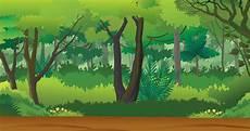 Vektor Tegak Background Hutan Vector Png