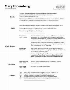 simple resume template clever hippo