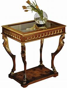 curio table david michael formal furniture gold leaf
