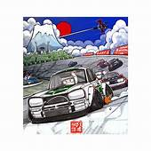 """Print – """"Fuji Speedway"""" By San Mamiya  Japanese Nostalgic Car"""
