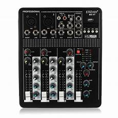Teyun Channel Audio Mixer Mixing Console by 110v 4 Channel Professional Live Studio Audio Mixer Usb