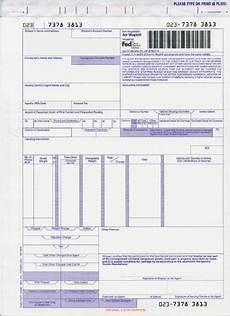 Fedex Air Waybill Form Pdf