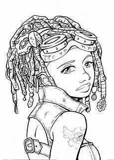 coloring pages of peoples hair 17841 steamgirls001 lineart web sally thompson s