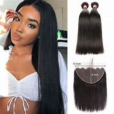 straight human hair weave hairstyles with 13x6 lace frontal closure supernova hair