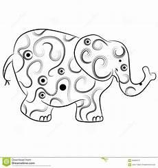 Einfache Malvorlage Elefant Einfache Elefant Entwurf Zentangle Vektor Abbildung