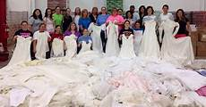 donating wedding gowns brides donate wedding dresses to gown program