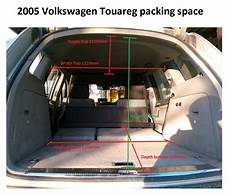 Touareg Packing Space Dimensions With Seats Flat