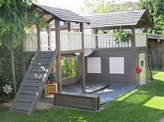 Kinderhaus Selber Bauen - obi selbstgemacht spielhaus mit wackelbr 252 cke turm und