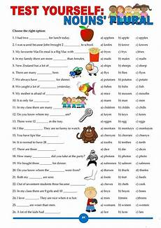 test yourself nouns plural worksheet free esl printable worksheets made by teachers