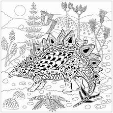 stegosaurus in nature dinosaurs coloring pages