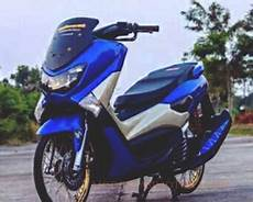 Modifikasi Nmax Jari Jari by Modifikasi Yamaha Nmax Biru Velg Jari Jari Modifikasimotorz