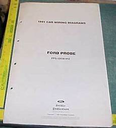 ford probe stereo wiring 1991 ford probe wiring diagrams manual ebay
