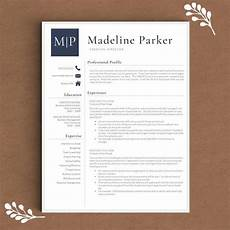 professional resume template for word pages by