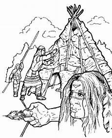 Ausmalbilder Info Indianer Indian Coloring Page Indian Coloring Pages Coloring