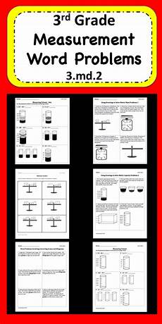 measurement word problems worksheets 4th grade 1975 measurement word problems word problems math and elementary math