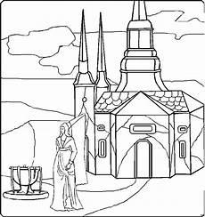 Ausmalbilder Prinzessin Burg Prinzessin Vor Burg Ausmalbild Malvorlage Phantasie