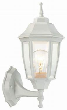 hton bay wall mounted 1 light white outdoor dusk to