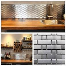 stainless steel brick and square metal mosaic tile for
