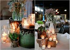 immagini candele e fiori country wedding with vintage decorations rustic
