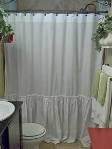 Shabby Shower Curtain shabby chic ruffled white shower curtain