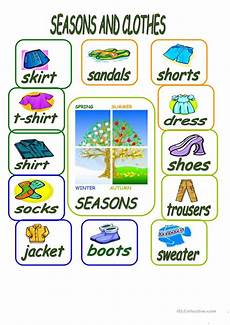 worksheets seasons and clothes 14754 seasons and clothes worksheet free esl printable worksheets made by teachers