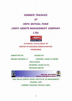 hdfc mutual fund hdfc assets management company ltd by