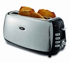 oster 4 slice slot toaster polished stainless steel