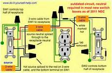multiple outlets controlled by a single switch home electrical in 2018 pinterest