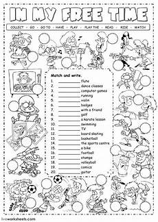 free time worksheets grade 4 3348 free time activities interactive worksheet