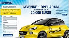 Opel Adam Auto Gewinnspiel Mentos Ichwilltesten De