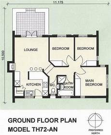 thatch house plans 3 bedroom thatch roof house plan th72an plans123